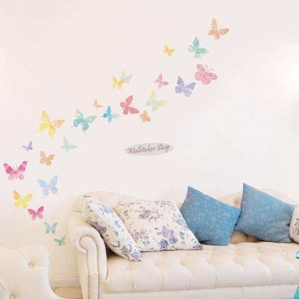 ウォールステッカー シール はがせる 壁 北欧 きれい 蝶|bora