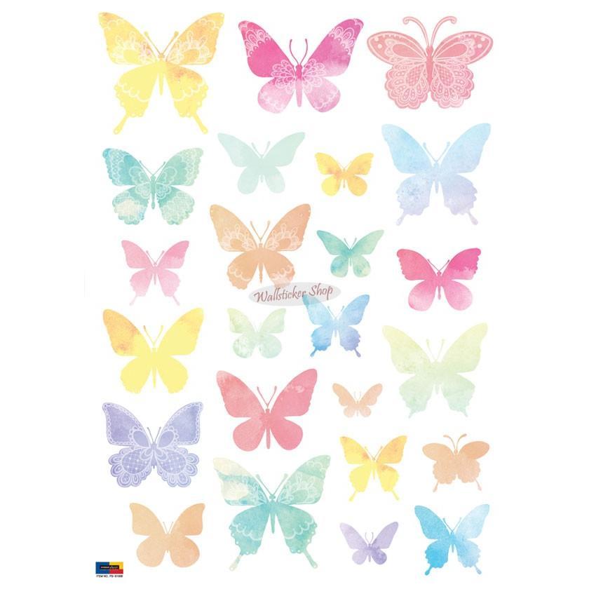 ウォールステッカー シール はがせる 壁 北欧 きれい 蝶|bora|06