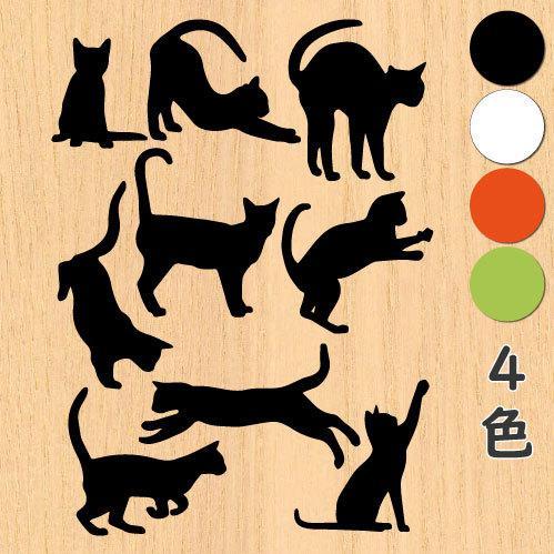 ウォールステッカー 猫の足跡 ネコ ねこ シール|bora