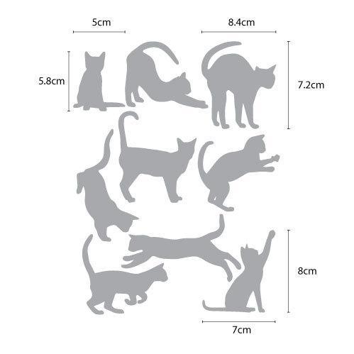 ウォールステッカー 猫の足跡 ネコ ねこ シール|bora|02