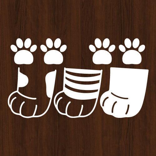 ウォールステッカー 猫の足跡 ネコ ねこ シール|bora|03