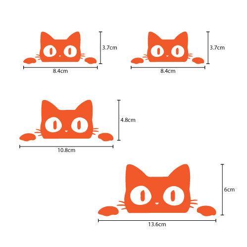 ウォールステッカー 猫 ネコ ねこ シール|bora|02