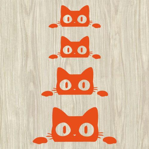 ウォールステッカー 猫 ネコ ねこ シール|bora|04