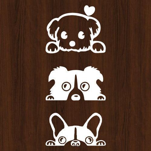 ウォールステッカー 犬 ドッグ dog 動物 シール|bora|03