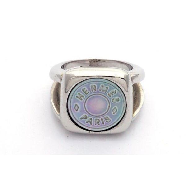 最新デザインの HERMES エルメス シェルセリエ ナックルリング 指輪 13号 シルバー<USED>【送料無料】, Snipe 42b2a461