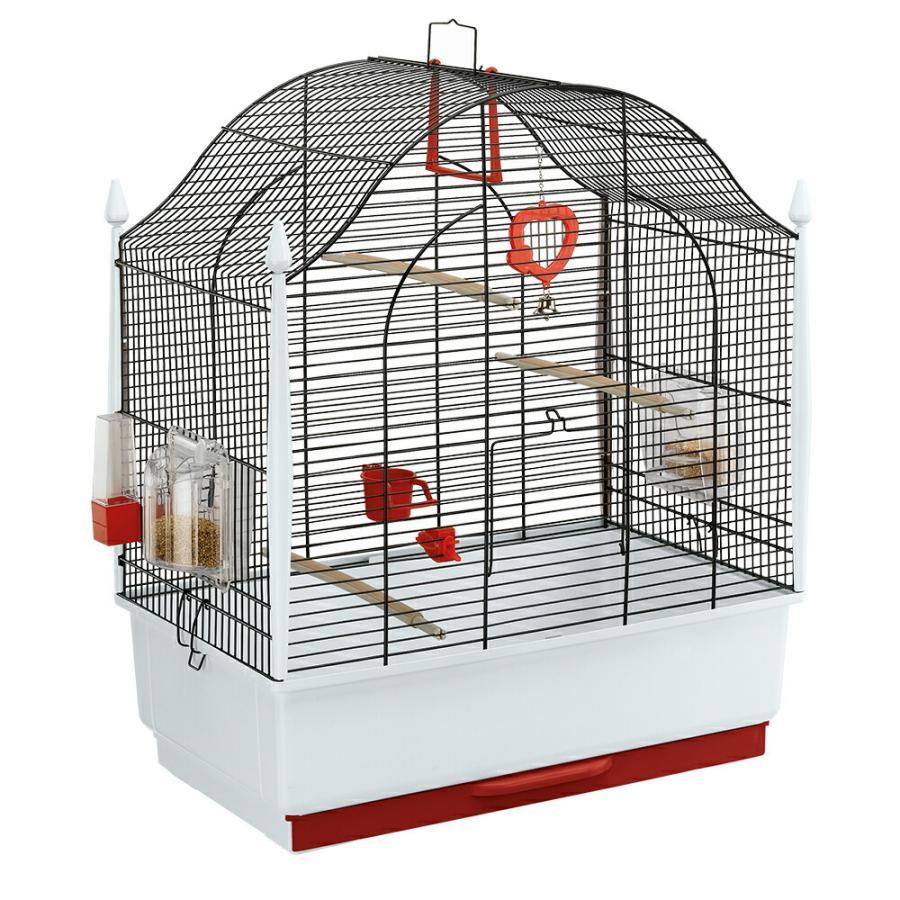 イタリアferplast社製 鳥かご ヴィラ ブラック Villa Gold 鳥籠 ゲージ フルセット カナリア セキセイインコ 小型鳥用