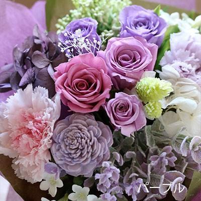 プリザーブドフラワー 敬老の日 プレゼント 花 ギフト 花束 「フルール・グラン」 ブリザードフラワー 結婚式 両親 花束贈呈 送別会 退職祝い 誕生日 結婚記念日 bouquetblanche 11