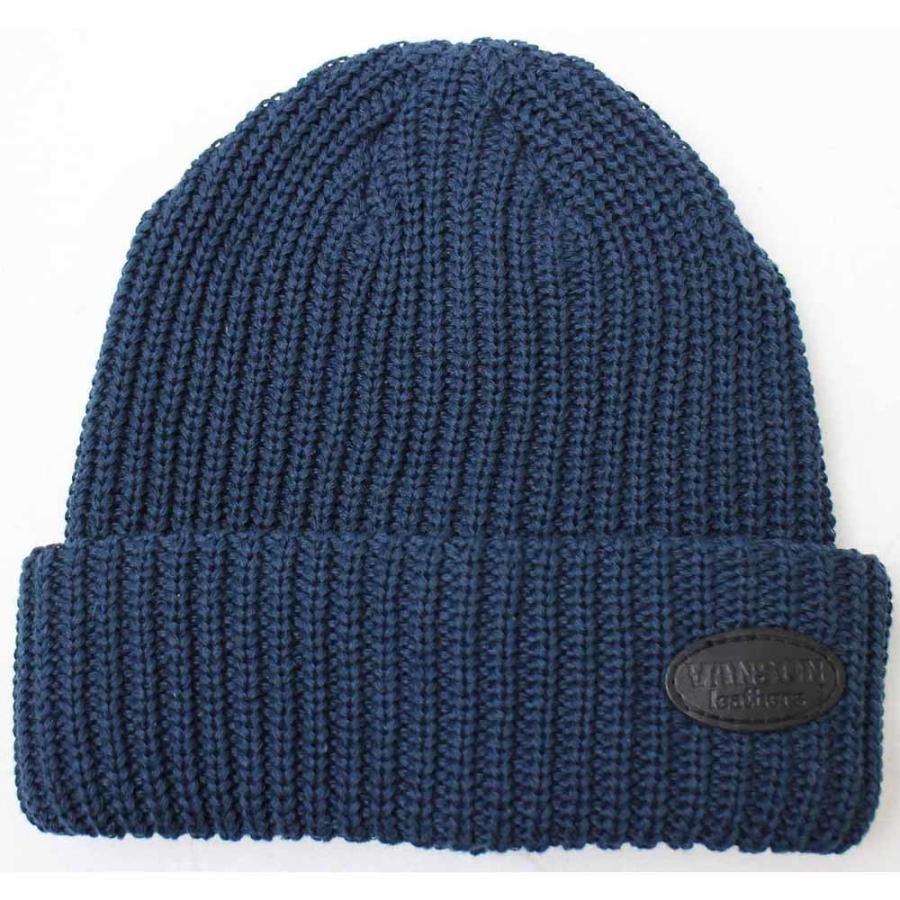 VANSON(バンソン):レザーパッチリブワッチ/メンズ&レディース/ファッション ニットキャップ 帽子 boushikaban 03