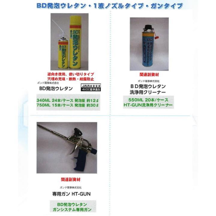 発泡ウレタン ガン HT-GUN 1丁/箱 BD発泡ウレタン 一液型発泡ウレタン専用ガン bousui-must 02