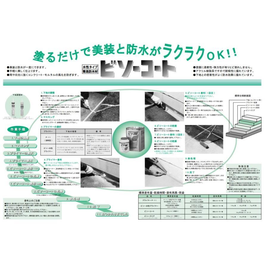 シャープ化学工業 ビソー水性プライマー 4kg/缶 下地材 プライマー|bousui-must|03