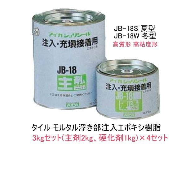 エポキシ樹脂注入 補修材 ジョリシール JB-18 3kgセット×4セット/缶 S 夏型 W 冬型 高粘度形 常温硬化型 充填接着|bousui-must