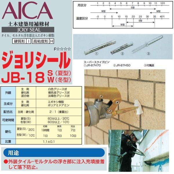 エポキシ樹脂注入 補修材 ジョリシール JB-18 3kgセット×4セット/缶 S 夏型 W 冬型 高粘度形 常温硬化型 充填接着|bousui-must|03