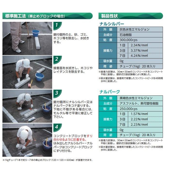 ナルパーク 1kgチューブ 20本/箱 成瀬化学 簡単施工 の コンクリートブロック接着剤|bousui-must|03