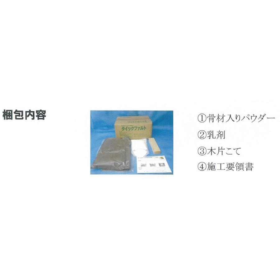 クイックファルト 駐車場補修 道路補修 アスファルト補修材 速硬 エコシーズ 8.87kg/箱 bousui-must 05