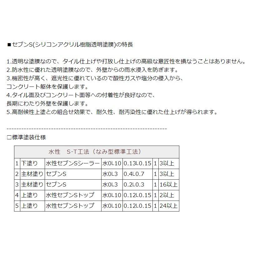 水性セブンSシーラーI(アイ) ナノカチオンシーラー セブンケミカル 樹脂 4kg/缶 1液|bousui-must|03