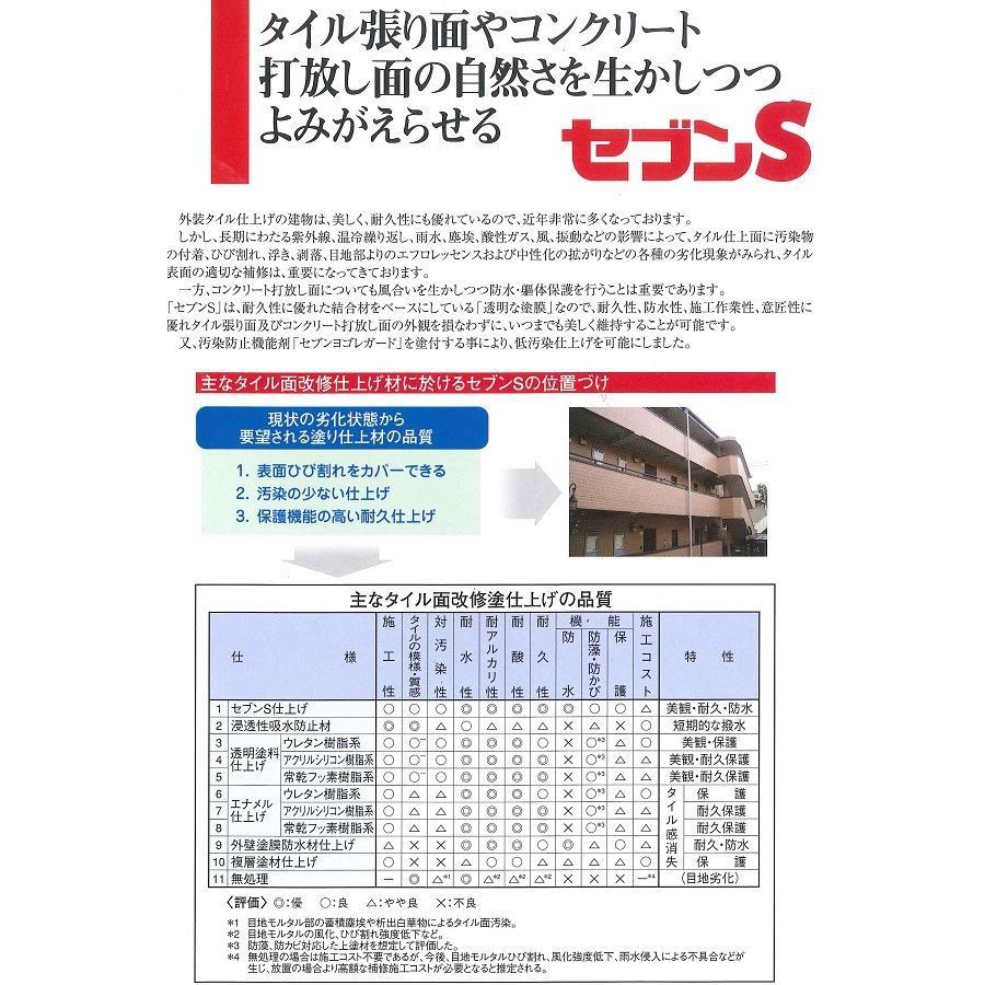 セブンケミカル セブンSシーラー 下塗り塗料 4kgセット bousui-must 03