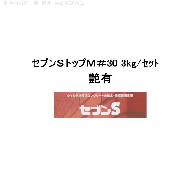 セブンケミカル セブンSトップM#30 3kgセット 上塗り塗料 艶有 半艶 bousui-must
