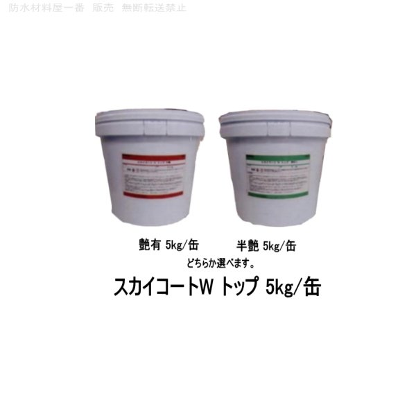 スカイコートW トップ 外壁保護塗料 艶有 半艶 5kg/缶|bousui-must