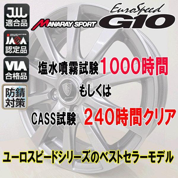 2021年製 VRX 155/65R14+ユーロスピード G10(マナレイスポーツ 防錆対策ホイール)+スタッドレスタイヤ+アルミホイール4本セット|bowers2|03