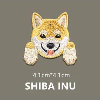 刺繍ワッペン 柴犬 bowwando