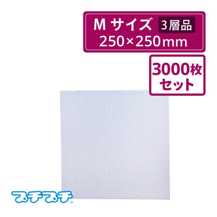 プチプチ袋 エアキャップ袋 Mサイズ 三層品  250×250mm  3000枚セット(川上産業・袋状・梱包材) 法人 学校 ショップ名記載必須