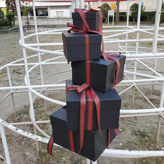 マトリョーシカBOXセット ブラック クリスマス用リボン付き|boxstore-net