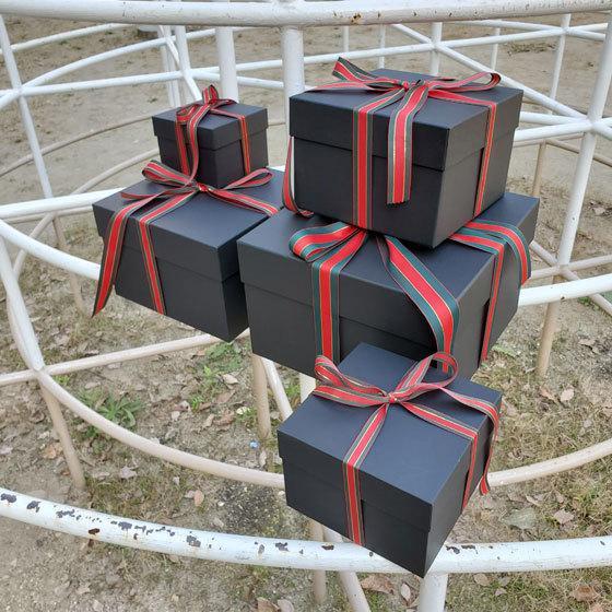 マトリョーシカBOXセット ブラック クリスマス用リボン付き|boxstore-net|02