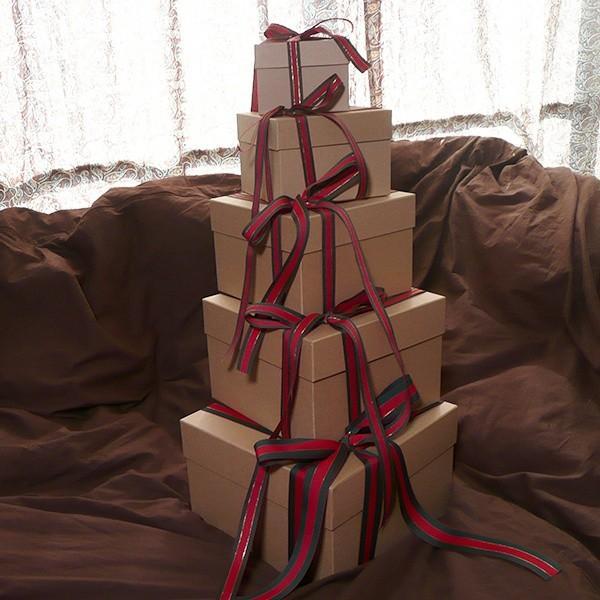 マトリョーシカBOXセット クラフト クリスマス用リボン付き|boxstore-net