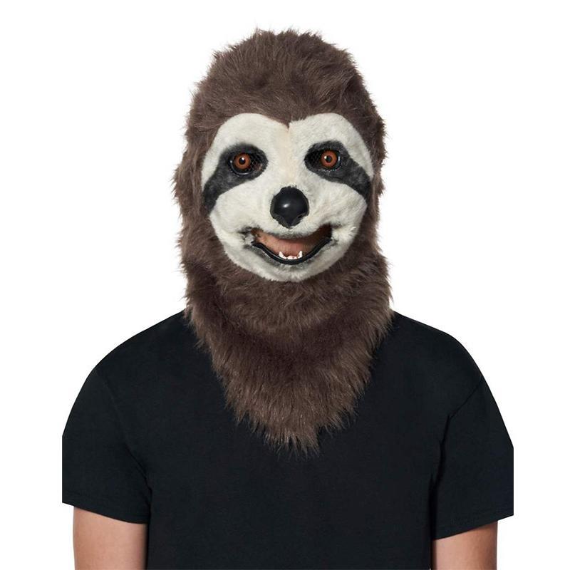 Faux Fur Sloth Moving Mouth Mask ハロウィン マスク お面 仮装 Halloween ハロウィーン おめん コスプレ パーティーグッズ