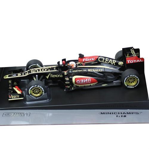 MINICHAMPS 1/18スケール ロータス F1チーム ルノー E21 K.ライコネン 2013 #7 オーストラリアGP ウィナー