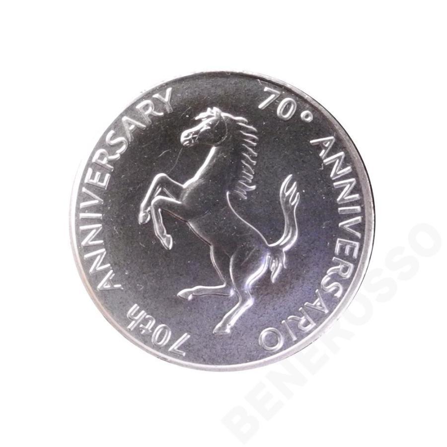 フェラーリ 70周年 純銀メダル (返品·交換対象外)