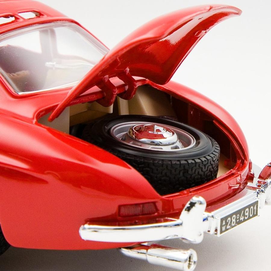 京商EGG 1/18ダイキャストミニカー メルセデスベンツ300SL 1954 レッド