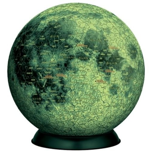 540ピース ジグソーパズル 3D球体パズル 月球儀 光るパズル
