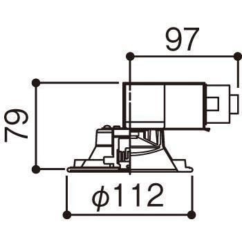 パナソニック ダウンライト LSEB9502LE1 調光不可 電球色 ホワイト|braggart4