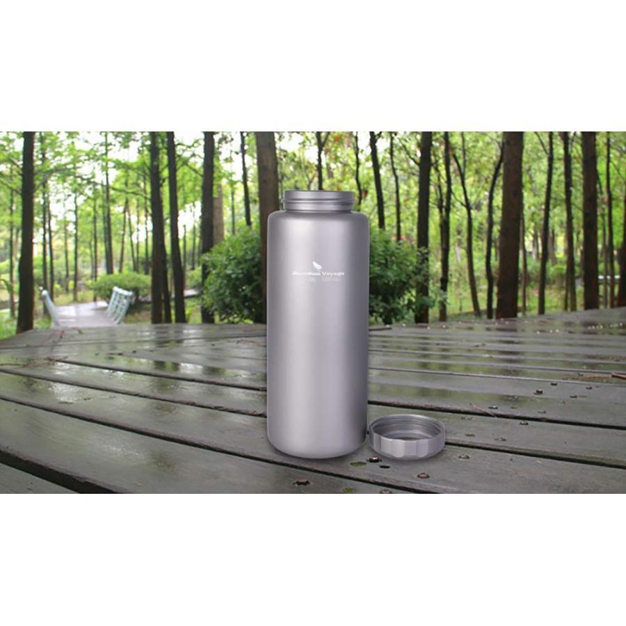 ZY Voyage チタンボトル 登山 アウトドア キャンプ スポーツ ケトル 水筒 広口 軽量 携帯用 1050ml ウォーターボトル