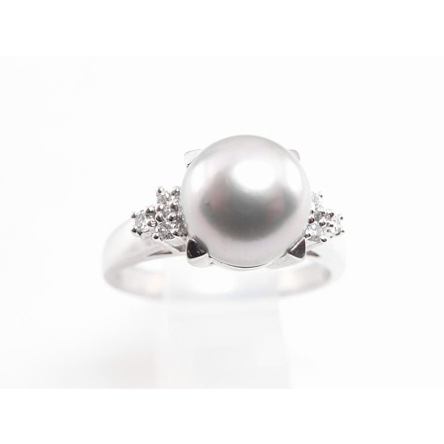 【中古】美品 田崎 TASAKI タサキ パール ダイヤ リング 指輪 PT900 プラチナ #11|brand-kirara