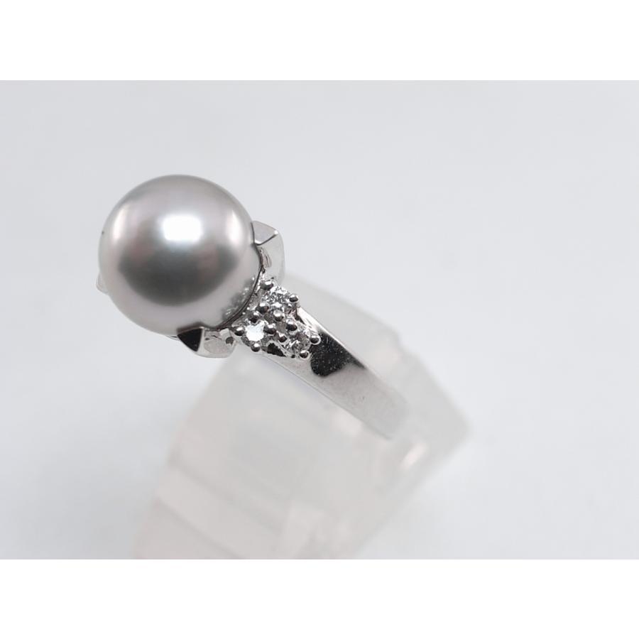 【中古】美品 田崎 TASAKI タサキ パール ダイヤ リング 指輪 PT900 プラチナ #11|brand-kirara|05
