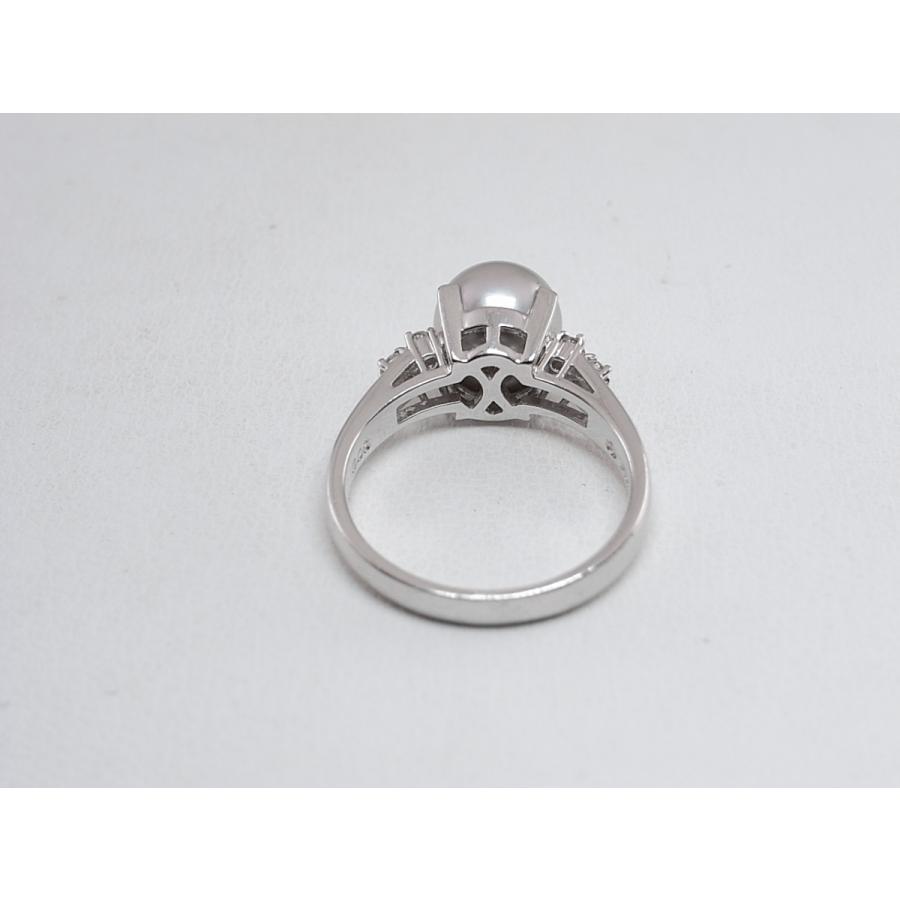 【中古】美品 田崎 TASAKI タサキ パール ダイヤ リング 指輪 PT900 プラチナ #11|brand-kirara|06