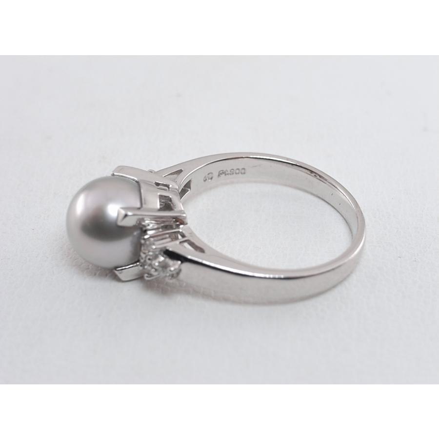【中古】美品 田崎 TASAKI タサキ パール ダイヤ リング 指輪 PT900 プラチナ #11|brand-kirara|07