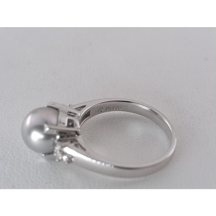【中古】美品 田崎 TASAKI タサキ パール ダイヤ リング 指輪 PT900 プラチナ #11|brand-kirara|08