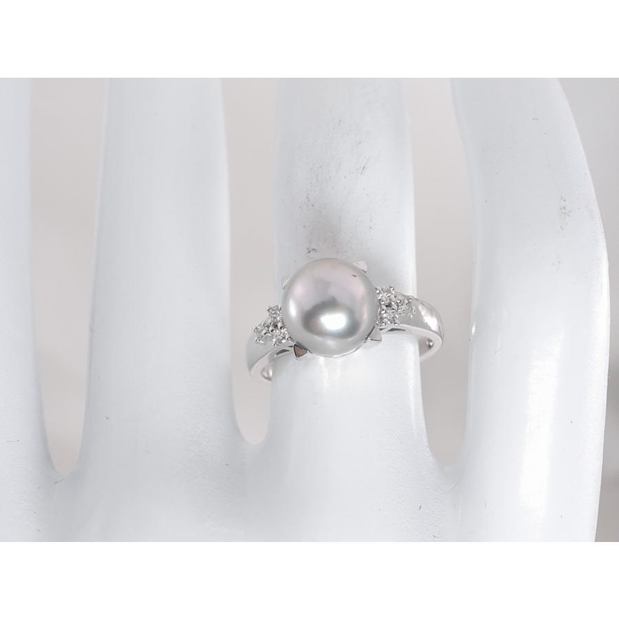 【中古】美品 田崎 TASAKI タサキ パール ダイヤ リング 指輪 PT900 プラチナ #11|brand-kirara|10