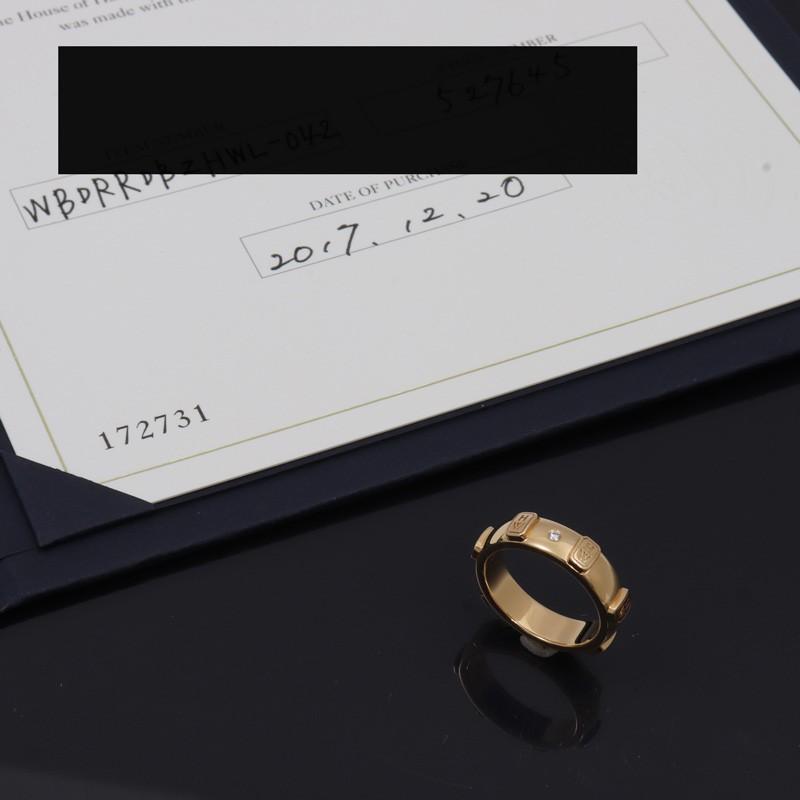 人気商品は u5649 本物 美品 ハリーウィンストン 750 PG HW ロゴ バンドリング 1PD 6.3gリング 指輪 アクセサリー 保証書付き #47 7号 レディース, ラビングストア1031 7b553723