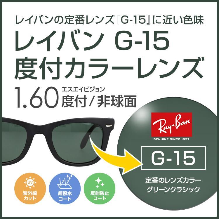 度付 カラーレンズ レイバンカラー G15 フルカラー85% ダークグリーン UVカット SAビジョン 期間限定送料無料 非球面 SA1.60ASカジュアル 特価品コーナー☆ 1.60
