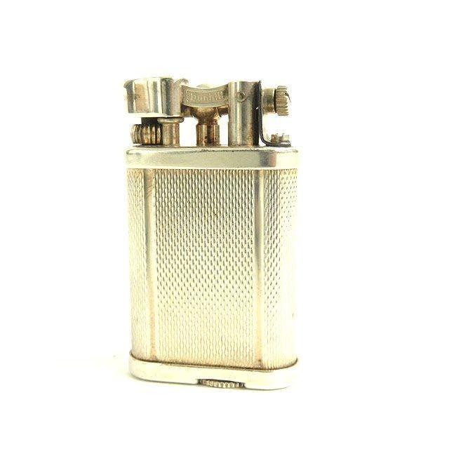 美品▼dunhill ダンヒル ハンマー式 ガスライター シルバー イングランド製 箱・ケース付き 着火確認済み◎