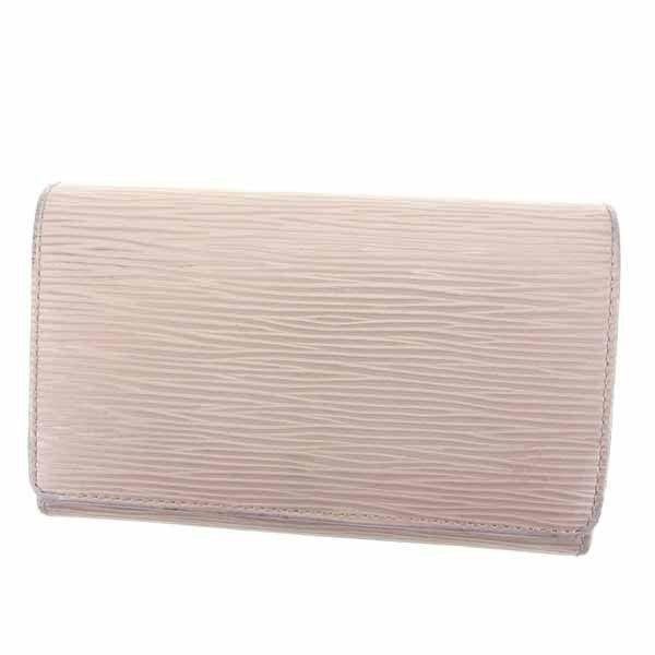 ルイヴィトン Louis Vuitton 財布 L字ファスナー財布 エピ ポルトモネビエトレゾール ライラック レディース 中古
