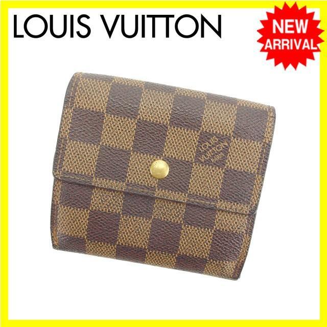 ルイヴィトン Louis Vuitton Wホック財布 メンズ可 ポルトフォイユ エリーズ N61652 ダミエ 中古 E931
