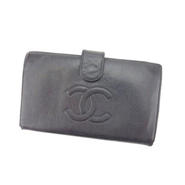 new style 8c086 e80be シャネル Chanel 財布 バーバリー 長財布 財布 ココマーク ...
