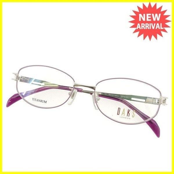 ポイント5倍 ダックス 眼鏡 展示品 ピンク パープル レディース 未使用品 中古