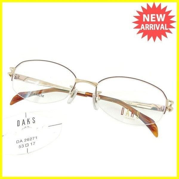 ポイント5倍 ダックス 眼鏡 展示品未使用 ゴールド ブラウン レディース メンズ 未使用品 中古