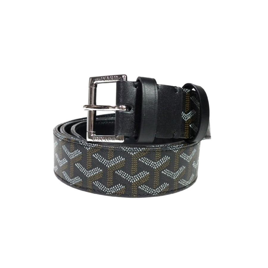 buy popular c4665 a3a1b 美品 ゴヤール メンズ ベルト ブラック 黒 ブラック 110cm ...